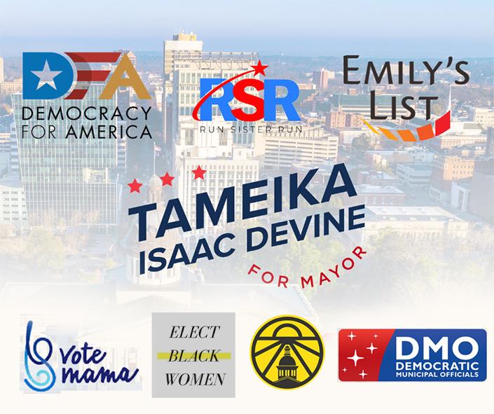 Tameika Isaac Devine for Mayor - Endorsements